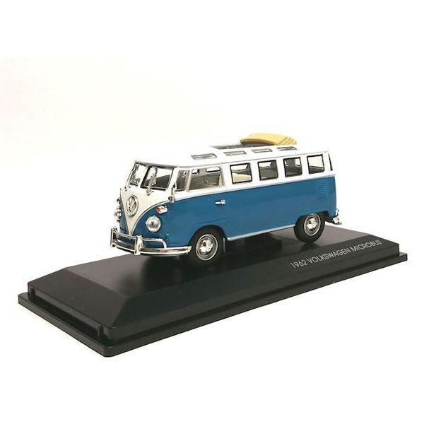 Modelauto Volkswagen VW T1 Microbus 1962 blauw/wit 1:43