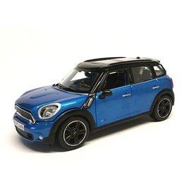 Maisto Mini Countryman 2011 blauw/zwart - Modelauto 1:24