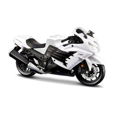 Kawasaki Ninja ZX-14R 2012 wit/zwart - Modelmotor 1:12