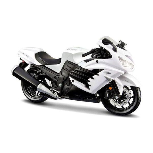 Modell-Motorrad Kawasaki Ninja ZX-14R 2012 weiß/schwarz 1:12