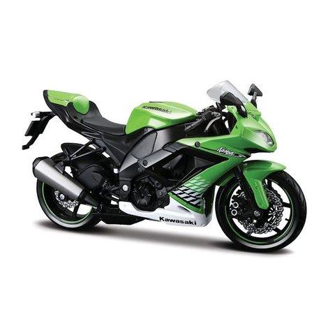 Modelmotor Kawasaki Ninja ZX-10R groen 1:12