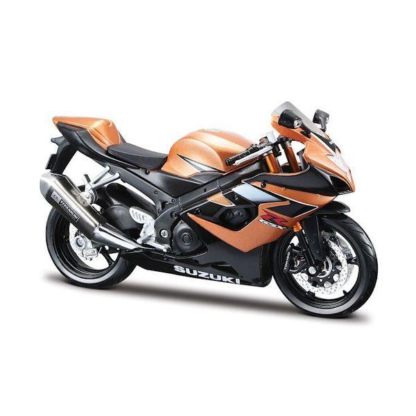 Modell-Motorrad Suzuki GSX-R 1000 gold/schwarz 1:12