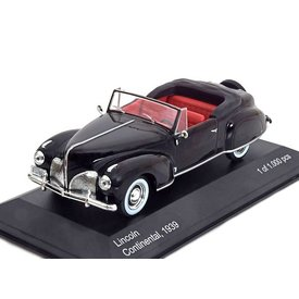 WhiteBox Lincoln Continental 1939 zwart, modelauto 1:43