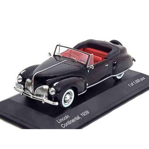 Lincoln Continental 1939 black - Model car 1:43
