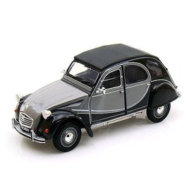 Welly Citroën 2CV 6 Charleston grijs/zwart 1:24