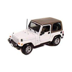 Maisto Jeep Wrangler Sahara hardtop weiß 1:18
