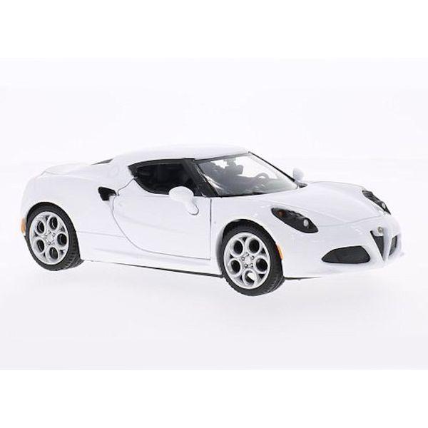 Model car Alfa Romeo 4C white 1:24