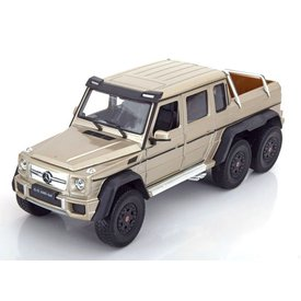 Welly Mercedes Benz G63 AMG 6x6 goud - Modelauto 1:24