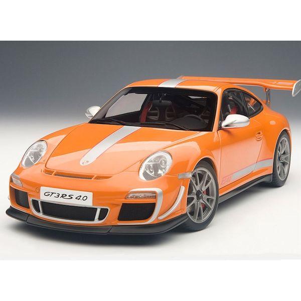Modelauto Porsche 911 (997) GT3 RS 4.0 oranje 1:18