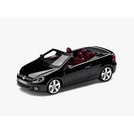 Schuco Volkswagen VW Golf Cabriolet 2012 zwart - Modelauto 1:43