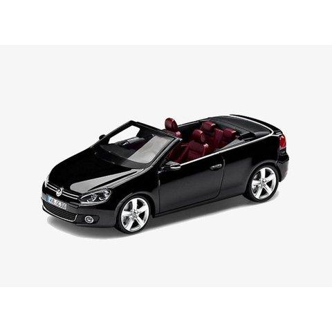 Volkswagen Golf Cabriolet 2012 zwart - Modelauto 1:43