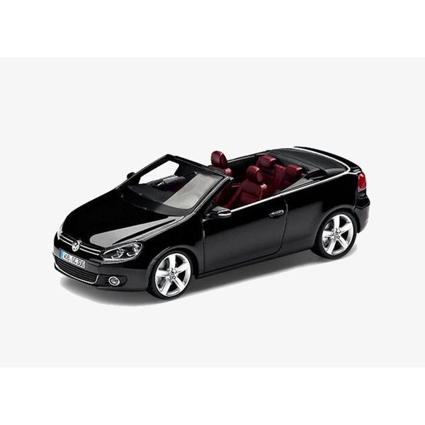 Modelauto Volkswagen Golf Cabriolet 2012 zwart 1:43 | Schuco