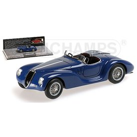 Minichamps Alfa Romeo 6C 2500 SS Corsa Spider 1939 blue - Model car 1:43