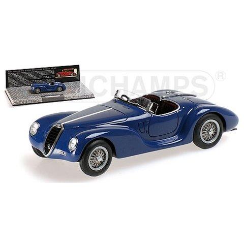 Alfa Romeo 6C 2500 SS Corsa Spider 1939 blauw - Modelauto 1:43