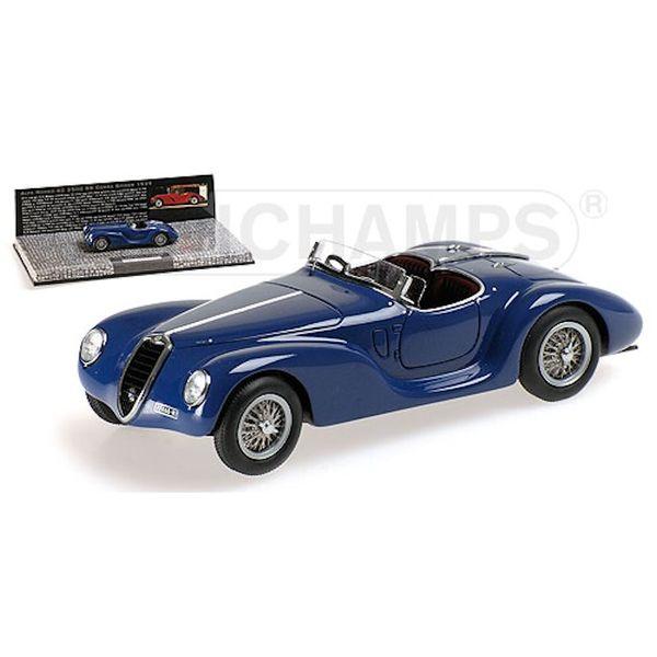 Modelauto Alfa Romeo 6C 2500 SS Corsa Spider 1939 blauw 1:43