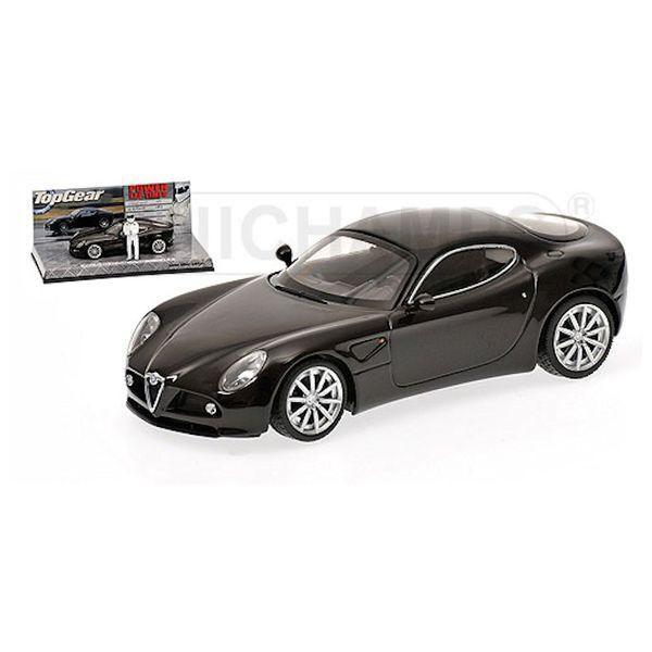 Modelauto Alfa Romeo 8C Competizione 2005 zwart 1:43