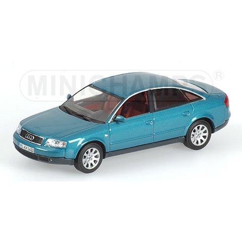 Audi A6 1997 blauw groen metallic 1:43