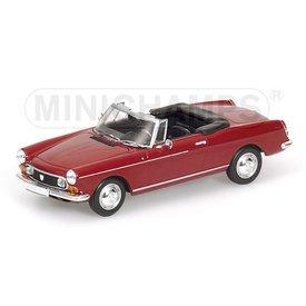 Minichamps Peugeot 404 Cabriolet 1962 rood - Modelauto 1:43