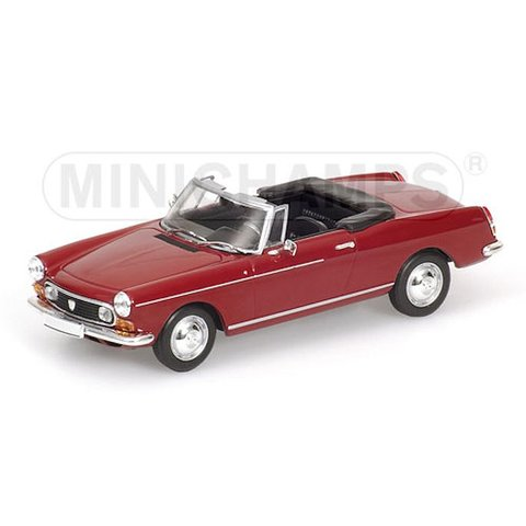 Peugeot 404 Cabriolet 1962 rood - Modelauto 1:43