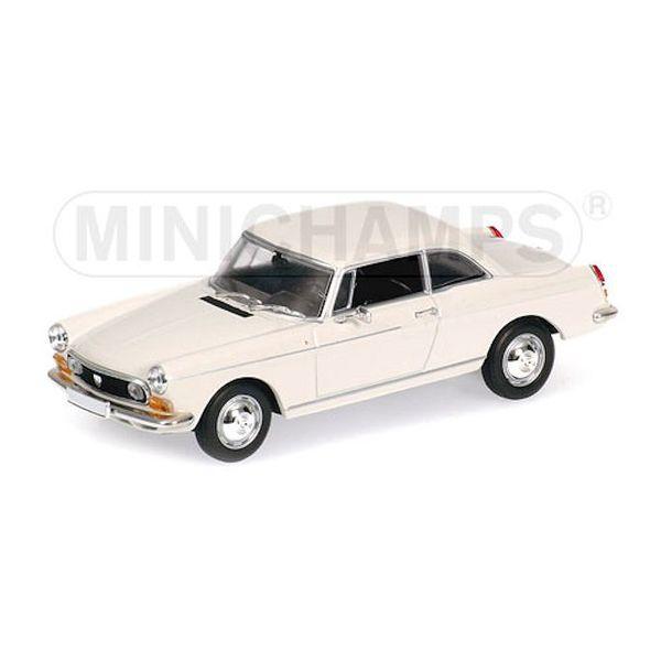 Model car Peugeot 404 Coupe 1962 cream 1:43   Minichamps