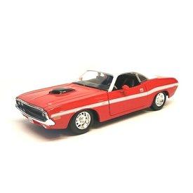 Maisto Dodge Challenger R/T Coupe 1970 rot/weiß - Modellauto 1:24