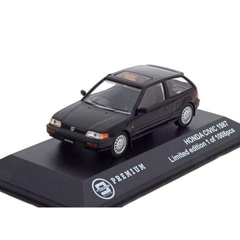 Honda Civic 1987 black - Model car 1:43