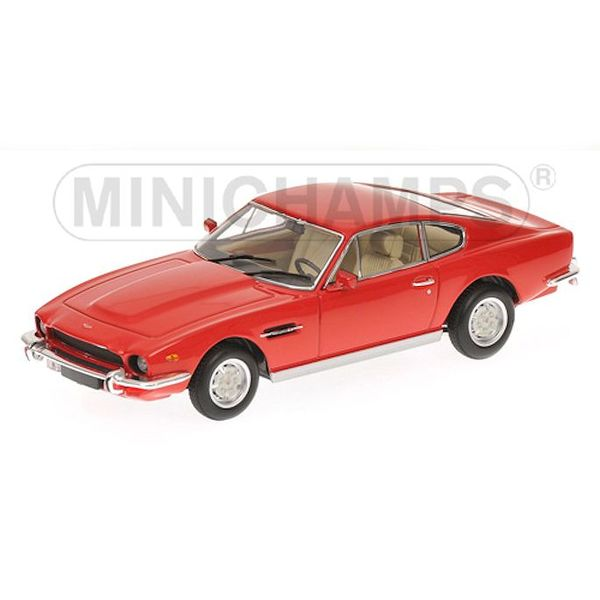 Aston Martin V8 Coupe 1987 rood - Modelauto 1:43