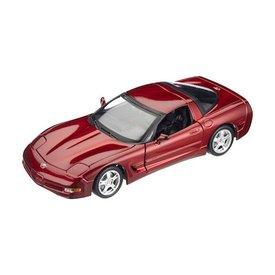 Bburago Chevrolet Corvette 1997 rood metallic 1:18