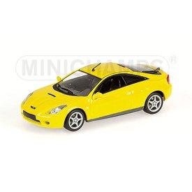Minichamps Toyota Celica 2000 geel - Modelauto 1:43