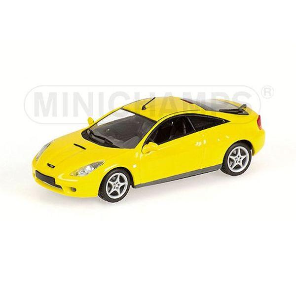 Modelauto Toyota Celica 2000 geel 1:43