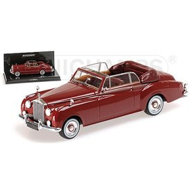 Minichamps Rolls Royce Silver Cloud II Cabriolet 1960 rood - Modelauto 1:43