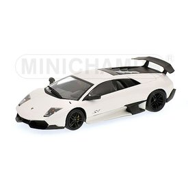 Minichamps Lamborghini Murcielago LP 670-4 SV 2009 wit - Modelauto 1:43