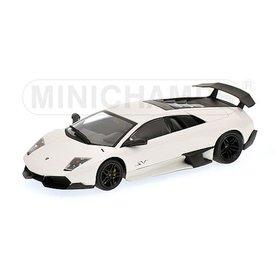 Minichamps Model car Lamborghini Murcielago LP 670-4 SV 2009 white 1:43