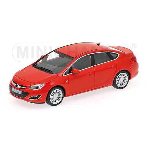 Opel Astra 4-deurs 2012 rood - Modelauto 1:43