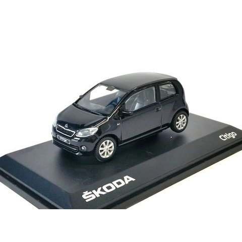 Skoda Citigo 3-deurs  zwart - Modelauto 1:43