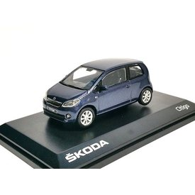 Abrex Skoda Citigo 3-deurs  blauw metallic - Modelauto 1:43