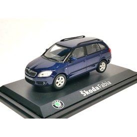 Abrex Skoda Fabia Combi dark blue - Model car 1:43