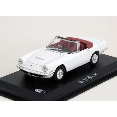 Maserati Mistral Spyder wit - Modelauto 1:43