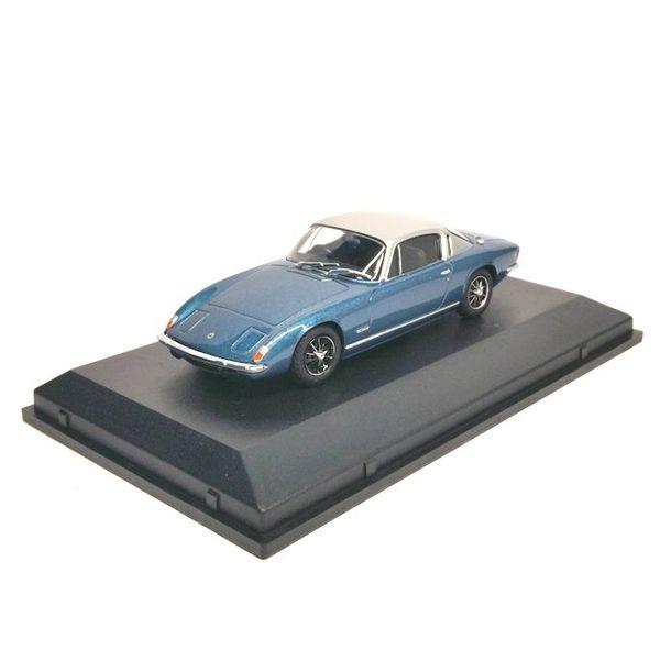 Modelauto Lotus Elan +2 blauw/zilver 1:43
