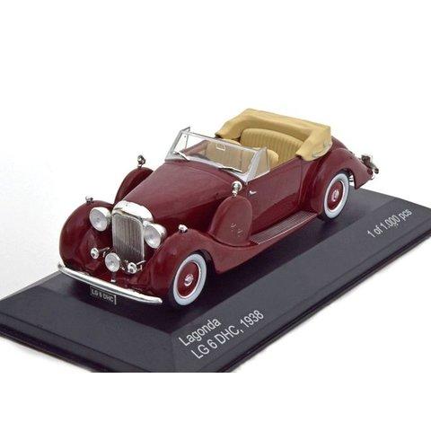Lagonda LG6 Drophead Coupe 1938 donkerrood - Modelauto 1:43