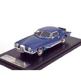 Premium X Stutz Blackhawk Coupe 1971 blauw 1:43