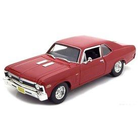 Maisto Chevrolet Nova SS 1970 rood - Modelauto 1:18