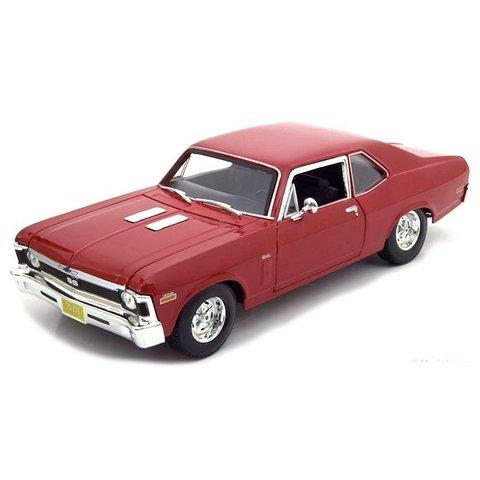 Modelauto Chevrolet Nova SS 1970 rood 1:18