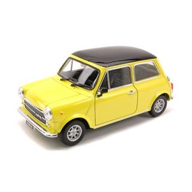 Welly Mini Cooper 1300 geel - Modelauto 1:24
