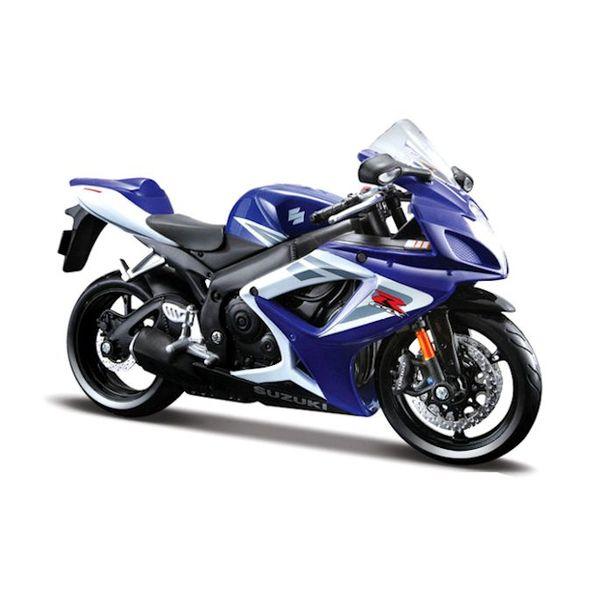 Modell-Motorrad Suzuki GSX-R 750 blau/weiß