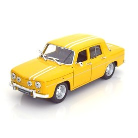 Welly Renault 8 Gordini 1964 geel - Modelauto 1:24