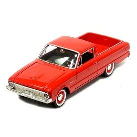 Motormax Modelauto Ford Ranchero 1960 rood 1:24