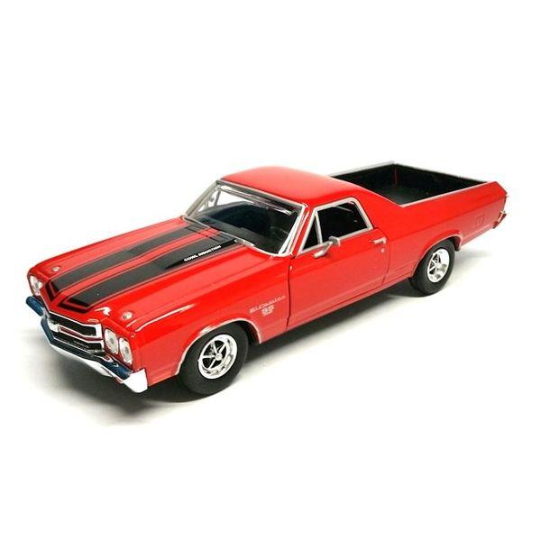 Model car Chevrolet El Camino SS 396 red 1:24