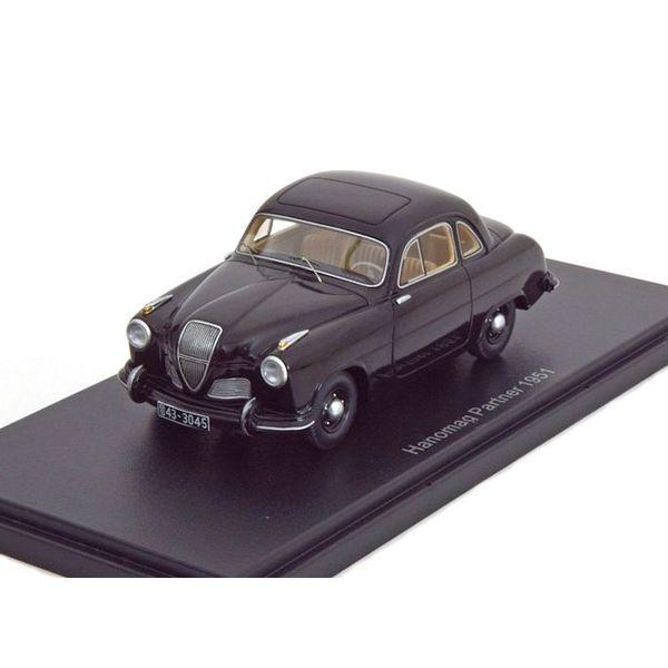 Modelauto Hanomag Partner 1951 zwart 1:43 | BoS Models