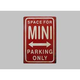 Parking Sign Mini 20x30 cm rot / weiß